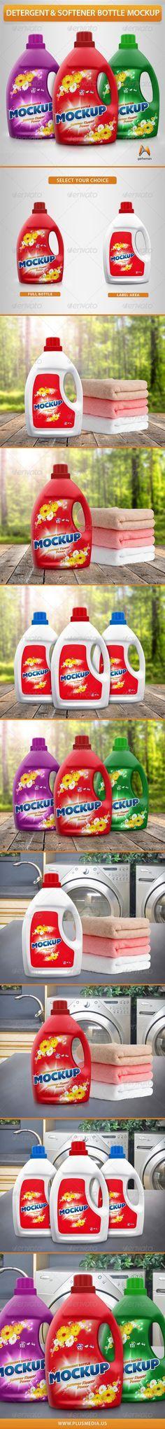 Detergent & Softener Bottle Mockup
