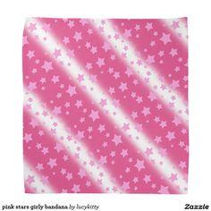 pink stars girly bandana