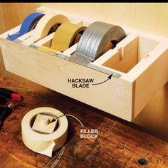 tape dispenser inside or in the garage