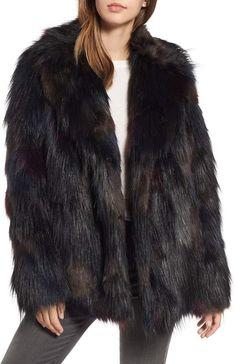 9627227ab01 RACHEL Rachel Roy Multicolored Faux Fur Jacket