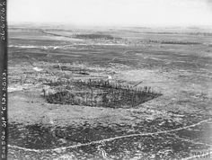 WWI. Aerial photograph of Oppy Wood, Arras area. ©IWM Q 56605 Flanders Field, Wwi, Fields, Photograph, Sunset, History, Photography, Historia, Photographs