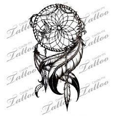 Marketplace Tattoo Dream Catcher #4400 | CreateMyTattoo.com
