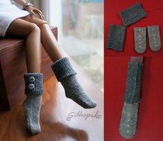 МК! Как легко сделать носки для куклы