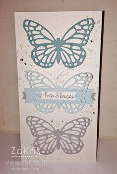 Stampin' Up! - Butterfly Basics, Gorgeous Grunge, Good Greetings, Butterflies Thinlits - ZoKris