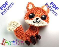Fox Crochet Applique Pattern