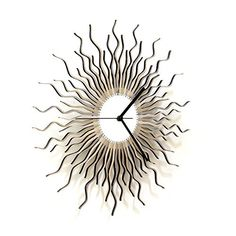 Medusa silver L - Large sized contemporary wooden wall clock
