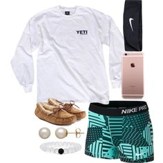 Sometimes I feel like I can't run, I can't crawl by lindsay-mccartney on Polyvore featuring polyvore, fashion, style, NIKE, UGG Australia and Honora