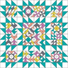 """Blockade Setting for 12"""" finished blocks from In Color Order"""