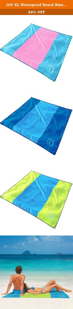 GO! XL Waterproof Beach Blanket / Picnic Blanket Mat 7x7 Lightweight Compact & Sand Repellent. Made of Ripstop Polyester Fabric with Built In Sand Pockets and Corner Loops. GO! OUTDOOR GEAR BEACH BLANKET / PICNIC BLANKET & CAMPING MAT Our Beach & Picnic Blanket Multi Purpose Mat is lightweight, compact and comes in a small, easy to carry pouch. PREMIUM OXFORD FABRIC This fabric is lightweight, waterproof and sand repellent! Made from Oxford weave polyester fabric with Rip Stop technology…