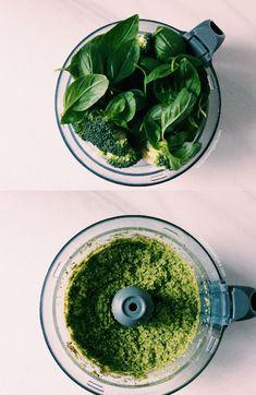Pesto de brócoli - La Cazuela Vegana Hummus, Pesto Pasta, Healthy Choices, Spinach, Diet, Vegetables, Cooking, Recipes, How To Make
