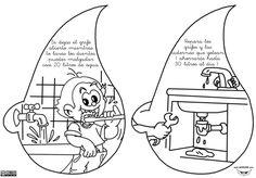 """El libro lo forman cuatro fichas con 8 dibujos en total, con las que se pretende concienciar en el uso y el ahorro del agua. Se ha dejado un espacio a la izquierda para pegar las """"gotas de agua"""" y formar un pequeño libro. También queda bien taladrándola y sujetándola … Ecole Art, Science For Kids, Social Science, Global Warming, Coloring Sheets, Ecology, Save Energy, Homeschool, Comics"""