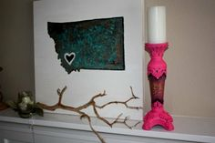 And she will do whatever state you want!!!!!!! AWESOME!!!! Gypsy Soul Candle Holder by DirtRoadJunkies on Etsy, $49.95