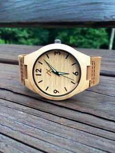 Pine Wood Watch, Wooden Pine Watch, Minimalist Wood Watch for Men Women, Personalized Watch, Wooden Watch, Wedding, Anniversary Gift