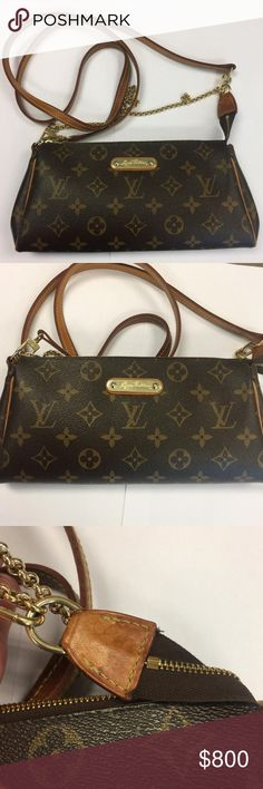 fa384238d1f8 Authentic Eva clutch Has patina on leather and some signs of wear Louis  Vuitton Bags Crossbody Bags