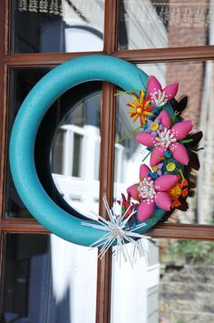 CUTE Pool Noodle Summer Wreath