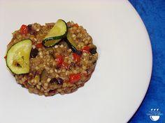 Risotto de blat sarraí amb verdures / Risotto de trigo sarraceno con verduras