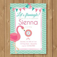Hey, I found this really awesome Etsy listing at https://www.etsy.com/listing/207322060/flamingo-invitation-birthday-flamingo