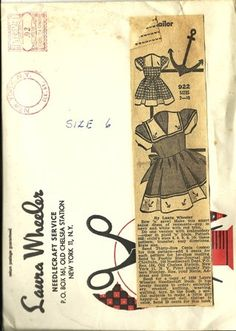 Vintage Laura Wheeler Girls Dress Pattern, Size 6 Sailor Dress, Anchor Applique,  Un-Cut, Pattern 922 Nautical Girls Dress, July 4th,  96i. $30.00, via Etsy.