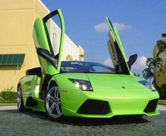 Lime Green Lamborghini Mercilago but I want mine in hot pink so you know it's me!!