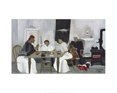 Horace Pippin - Domino Players/1943 - Art Prints and Posters