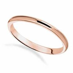 Like your love, this precious wedding band has no beginning and no end. Fashioned in 14K rose gold, this simple yet meaningful 2.0mm wide band is finished with a bright polished shine.