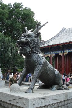 Summer Palace Bronze Qilin Statue