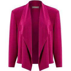 Bonbon Knit Jacket with Pockets, Cerise, Women's, Size: 12 - St ...