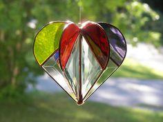 Stained Glass Heart Rainbow Rainbow Heart Bevel Heart