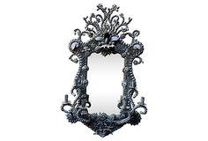Black Seashell Mirror w/ Candelabra on OneKingsLane.com
