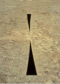 Michael Heizer, Compression line, 1968