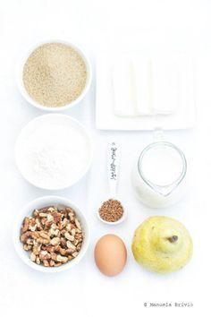 Plumcake pere, noci e caffè - Ingredienti