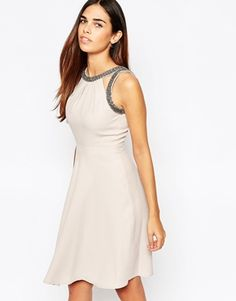Warehouse Premium Embellished Skater Dress