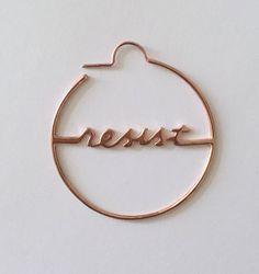 Resist Hoop Earrings in 14k Rose Gold Plated | The Resistance Jewelry |  Political Earrings |