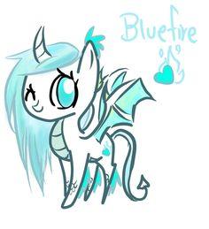 My Little Pony OC | My Little OC: Bluefire the Dragon Pony by GeekPony