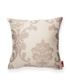 Tan Floral Decorative Throw Pillow
