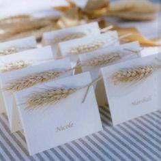 Des cartons nominatifs naturels