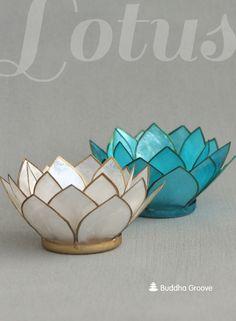 Capiz Lotus Tealight Holders