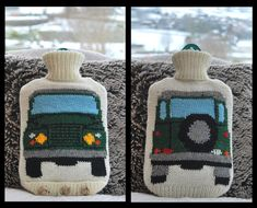 Knitting Pattern - Knit a Hot Water Bottle Cover Based on the Land Rover (Landrover) on Etsy, $3.16