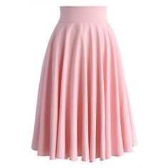 Chicwish Creamy Pleated Midi Skirt in Pink (208110 PYG) ❤ liked on Polyvore featuring skirts, bottoms, pink, chicwish, midi skirt, pink knee length skirt, red pleated skirt, pink pleated skirt, red midi skirt and knee length pleated skirt