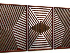 MetalDiorama & WoodArt by MetalDioramaWoodArt on Etsy Wood Wall Decor, Wood Wall Art, Geometric Wall, Modern Wall Art, Animal Print Rug, Living Room Decor, Etsy Seller, Creative, Bedroom Wall