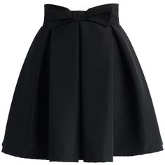 Chicwish Sweet Your Heart Bowknot Pleated Skirt in Black (120 PLN) ❤ liked on Polyvore featuring skirts, bottoms, saias, pants, black, lined skirt, pleated skirt, zip back skirt, chicwish skirts and knee length pleated skirt