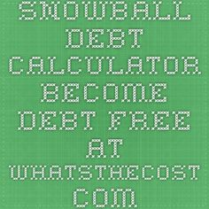Crown Financial Ministries Debt Snowball Calculator  Save Save