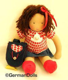 Olivia, a 15 inch Waldorf inspired Back-to-school Doll,  Waldorf toy via Etsy