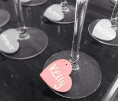 Glass Charms for Baby or Wedding Shower.. perfect favor and way to keep up with your glass throughout the party!