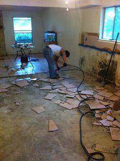 DIY : How To Stain Concrete Floors  Kemiko Stain & Seaeler , Black Satin