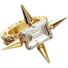 53307d97b Brass and copper ring Swarovski Crystal Rings, Beaded Rings, Crystal Jewelry,  Jewelry Rings