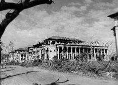 Villamor Hall on the campus of the University of the Philippines, Manila, Philippines, 1945 - #campus #Hall #Manila #philippine #Philippines #University #Villamor Philippine Holidays, Ww2 Photos, Photographs, Time Of Our Lives, Filipiniana, Manila Philippines, She Was Beautiful, Photo Archive, Vintage Pictures