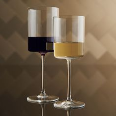 Edge Wine Glasses  | Crate and Barrel (want 4 13 oz. wine glasses and 4 champagne flutes)