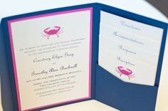 Pink crabs for a Maryland wedding