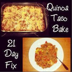 Turkey and Quinoa Taco Bake Recipe – Made to fit the 21 Day Fix!